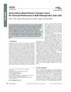 QuinacridoneBased Electron Transport Layers ... - Wiley Online Library