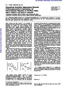 quinolines via Intramolecular Reaction of Nitrilium Salts