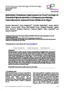 Quinolone Resistance - Current Research in Microbiology and ...