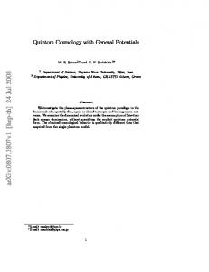 Quintom Cosmology with General Potentials