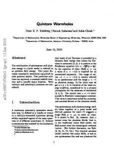 Quintom wormholes