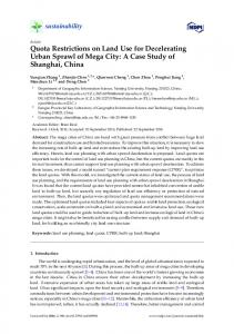 Quota Restrictions on Land Use for Decelerating Urban Sprawl of ...