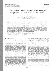 """Labor Market Institutions and Global Strategic Adaptation: Evidence ..."
