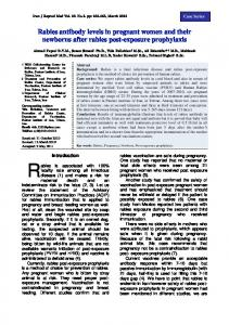 Rabies antibody levels in pregnant women and their newborns after ...
