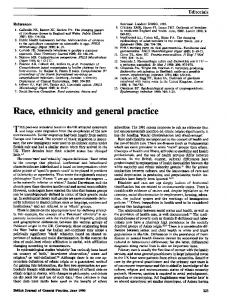 Race, ethnicity and general practice - NCBI