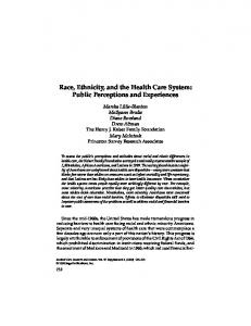Race, Ethnicity, and the Health Care System - Semantic Scholar