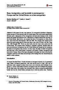 Race, immigration, and homicide in contemporary ... - Springer Link