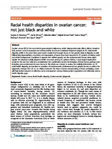Racial health disparities in ovarian cancer - Journal of Ovarian Research