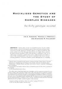 Racialized Genetics and the Study of Complex