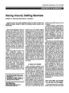 Racing around, getting nowhere - Penn State Anthropology!