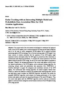 Radar Tracking with an Interacting Multiple Model and ... - MDPI