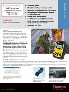 RadEye G/G-10 Survey Meter Product Brochure - JRT Associates