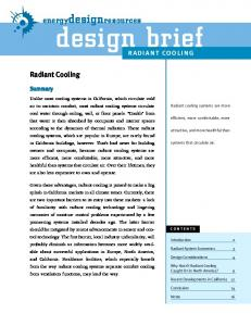 radiant cooling - Energy Design Resources