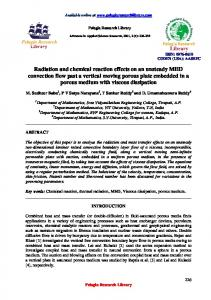 Radiation and chemical reaction effects on an unsteady MHD - iMedpub