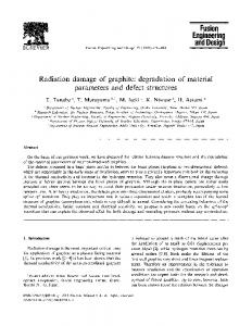 Radiation damage of graphite: degradation of material parameters ...