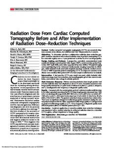 Radiation Dose From Cardiac Computed ...