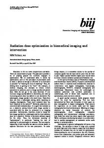 Radiation dose optimisation in biomedical imaging and intervention