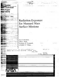 Radiation Exposure for Manned Mars Surface Missions - NTRS - NASA