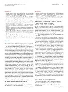 Radiation Exposure From Cardiac Computed Tomography - JACC ...