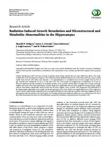 Radiation-Induced Growth Retardation and Microstructural and ...