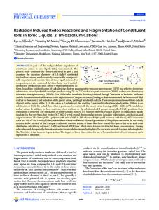 Radiation Induced Redox Reactions and ... - ACS Publications