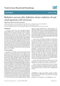 Radiation necrosis after definitive chemo-radiation of