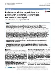 Radiation recall after capecitabine in a patient with ... - Springer Link