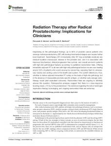 Radiation Therapy after Radical Prostatectomy - Semantic Scholar
