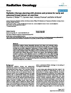 Radiation therapy planning with photons and protons for early and ...