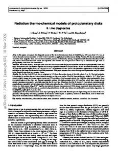 Radiation thermo-chemical models of protoplanetary disks
