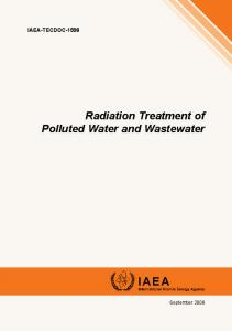 Radiation Treatment of Polluted Water and ... - IAEA Publications