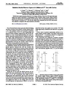 Radiative Double Electron Capture in Collisions ... - APS Link Manager