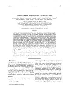 Radiative Transfer Modeling for the CLAMS Experiment