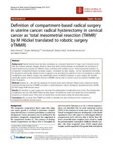 radical hysterectomy in cervical cancer as total ... - Semantic Scholar