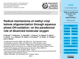 Radical mechanisms of methyl vinyl ketone
