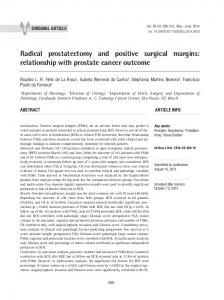 Radical prostatectomy and positive surgical margins - SciELO