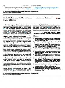 Radical Radiotherapy for Bladder Cancer - Clinical Oncology