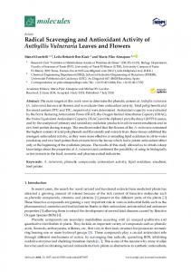 Radical Scavenging and Antioxidant Activity of Anthyllis ... - MDPI