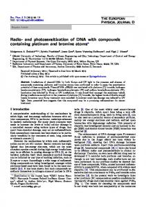 Radio- and photosensitization of DNA with compounds ... - Springer Link