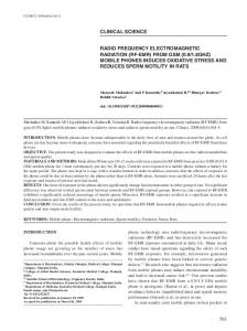Radio frequency electromagnetic radiation (RF-EMR) from GSM (0.9 ...