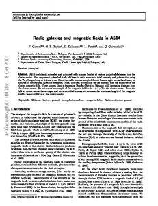 Radio galaxies and magnetic fields in A514