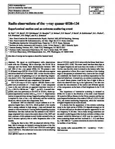 Radio observations of the-ray quasar 0528+ 134