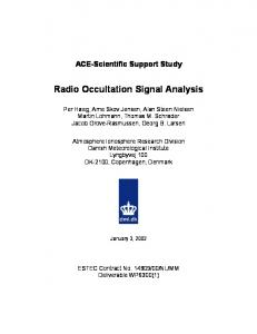 Radio Occultation Signal Analysis - COSMIC