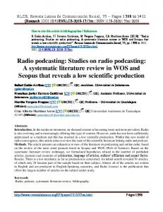 Radio podcasting: Studies on radio podcasting: A systematic literature