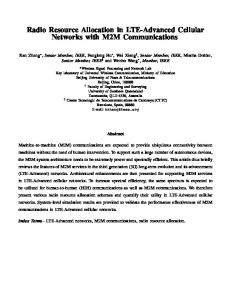 Radio Resource Allocation in LTE-Advanced Cellular Networks with ...