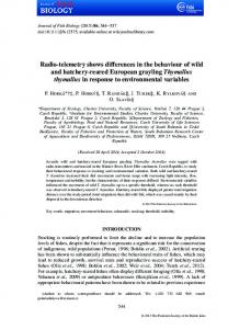 Radio-telemetry shows differences in the ... - Wiley Online Library