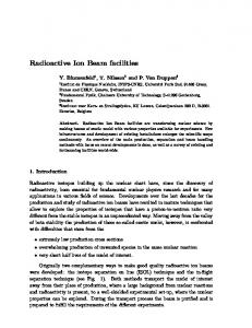 Radioactive Ion Beam facilities - Chalmers Publication Library