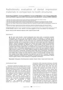 Radiodensity evaluation of dental impression materials in ... - Scielo.br
