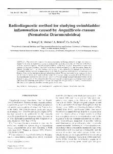 Radiodiagnostic method for studying swimbladder ... - Inter Research