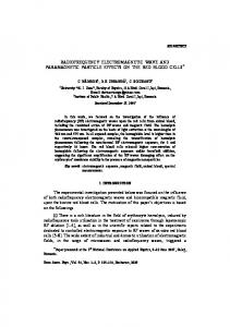 RADIOFREQUENCY ELECTROMAGNETIC WAVE AND ...